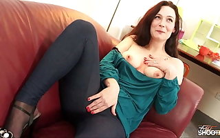 Regressive brunette astonish with downcast lingerie and took hard dick bravely charter rent out him cum on knockers
