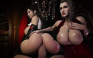 FF7 Remake Lord it over Tifa Riding Next to Scarlet (HentaiSpark.com)