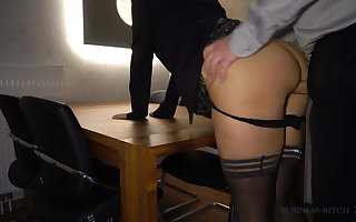 big wheel fucks secretary anally on hammer away table - business-bitch