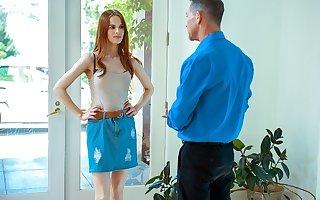 DADDY4K. Handsome man helps red-haired hottie get revenge