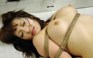 Yukina Mori got tied up tight increased hard by fucked hard by several men