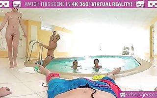 VRBangers.com Five Hot Russian Girls Share One Cock
