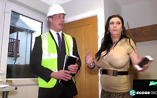 British curvy MILF Sabrina Jade and traffic inspector - unpaid reality hardcore