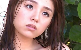 Ai Shinozaki in Guam 2013 Huge Asian Tits Gravure - young Japanese babe outdoors in bikini