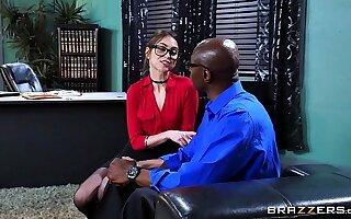 Brazzers - Riely Reid sucks some chunky black cock