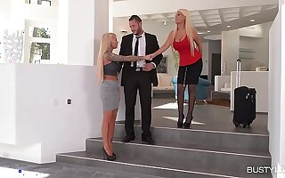 Shacking up intensely Hot Threesome with Busty Bridgette B & l. Ink